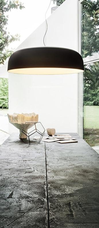 Suspension canopy 422 bronze blanc o90cm h27cm oluce normal