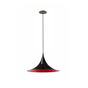 Suspension caps led noir rouge o60cm hind rabii normal