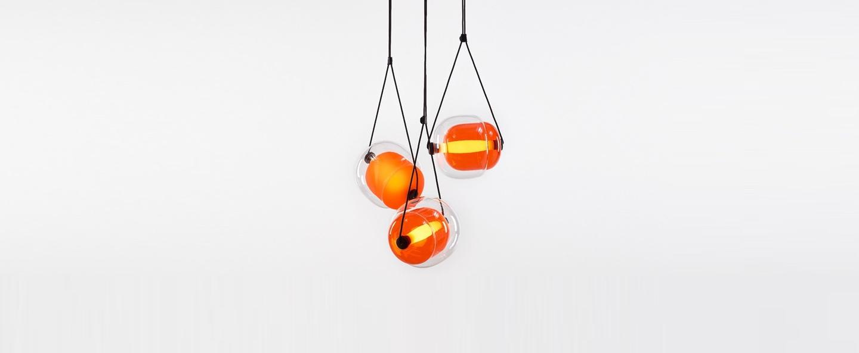 Suspension capsula orange h200cm brokis normal