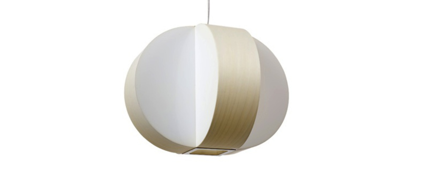 Suspension carambola sp blanc ivoire led o40cm h30cm lzf normal