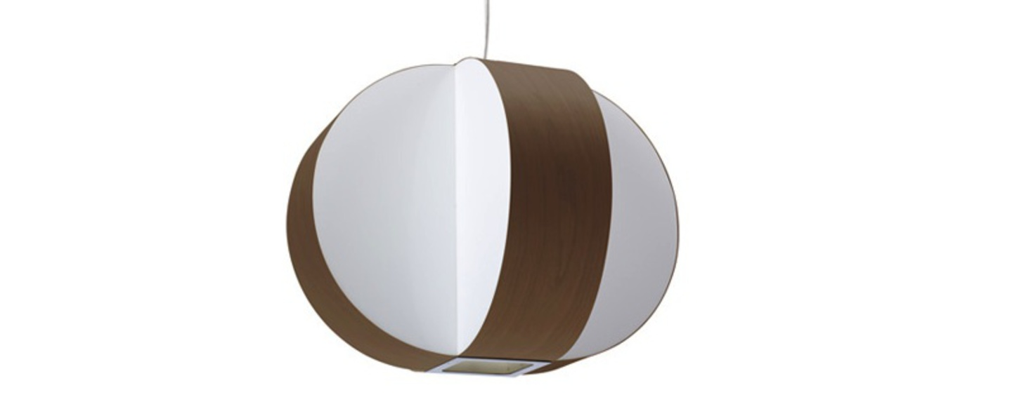 Suspension carambola sp chocolat led o40cm h30cm lzf normal