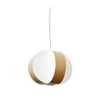 Suspension carambola sp hetre naturel led o40cm h30cm lzf normal