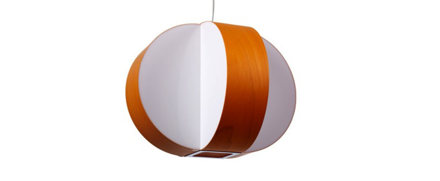 Suspension carambola sp orange led o40cm h30cm lzf normal