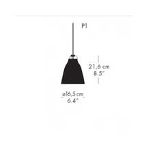 Caravaggio matt p1 cecilie manz suspension pendant light  nemo lighting 14037108  design signed nedgis 67085 thumb