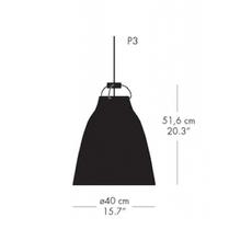 Caravaggio matt p3 cecilie manz suspension pendant light  nemo lighting 74627703  design signed nedgis 67110 thumb