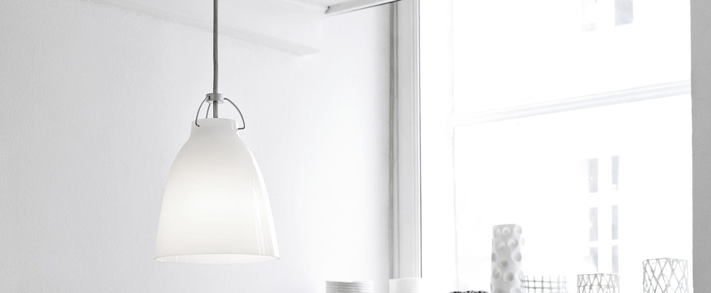 Suspension caravaggio opal p1 blanc o16 5cm h21 6cm lightyears normal