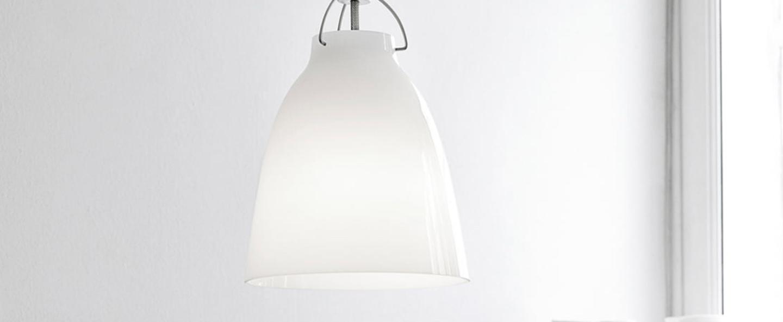 Suspension caravaggio opal p2 blanc o25 8cm h33 7cm lightyears normal