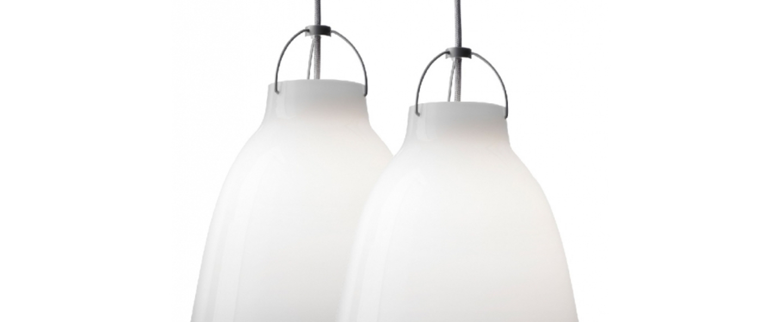 Suspension caravaggio opal p3 blanc o40cm h51 6cm lightyears normal