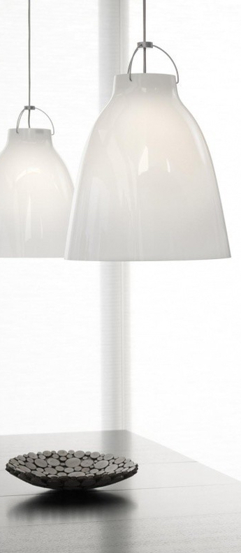Suspension caravaggio opal p3 blanc o40cm h51 6cm lightyears normal