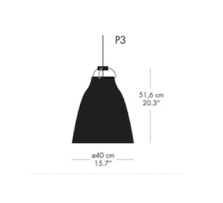 Caravaggio p3 cecilie manz suspension pendant light  nemo lighting 74009608  design signed nedgis 66601 product