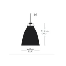 Caravaggio p3 cecilie manz suspension pendant light  nemo lighting 74009608  design signed nedgis 66601 thumb