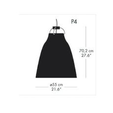 Caravaggio p4 cecilie manz suspension pendant light  nemo lighting 54007908  design signed nedgis 66609 thumb