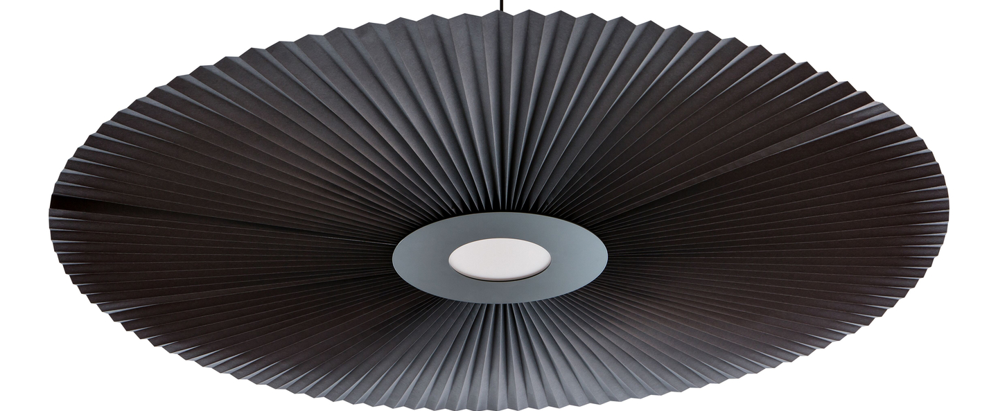Suspension carmen large gris ardoise led o128cm h12cm harto normal