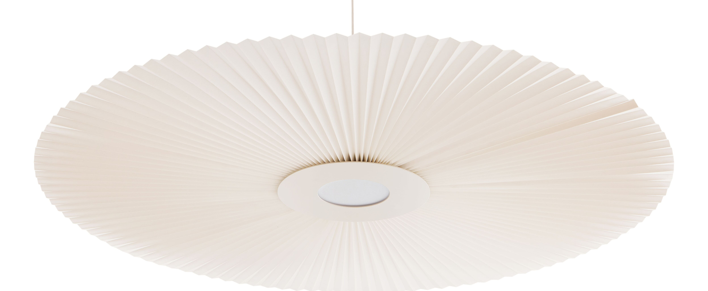 Suspension carmen large rose pale led o128cm h12cm harto normal