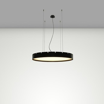 Suspension castle s60 noir led o60cm h10cm b lux normal