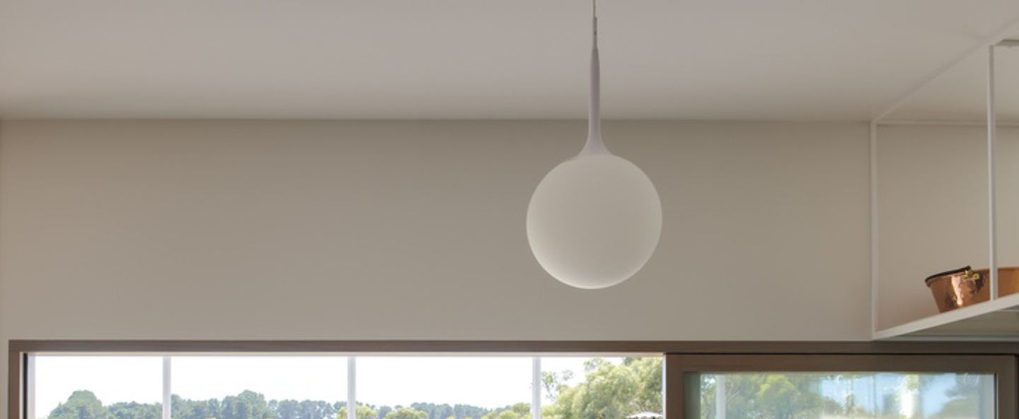 Suspension castore 25 blanc h222cm o25cm artemide normal