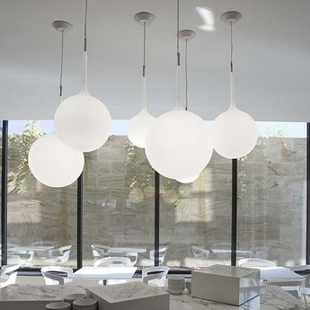 Suspension castore 35 blanc h233cm o35cm artemide normal