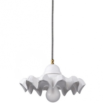 Suspension ceramique blanc ip54 o25cm h13cm zangra normal