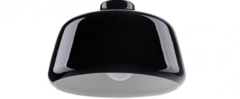 Suspension ceramique noir o23 5cm h15cm zangra normal