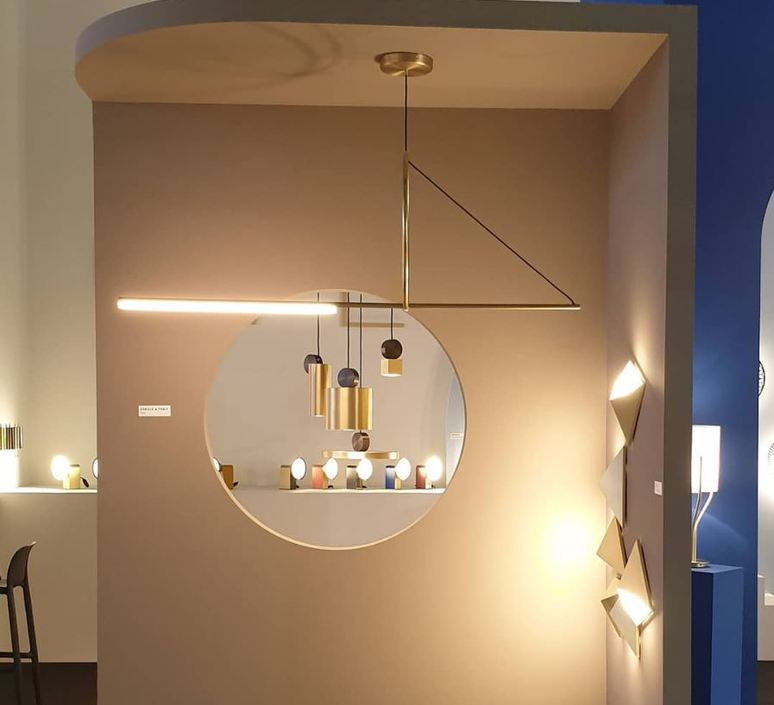 Cercle et trait  suspension pendant light  cvl cercle trait  design signed 80395 product