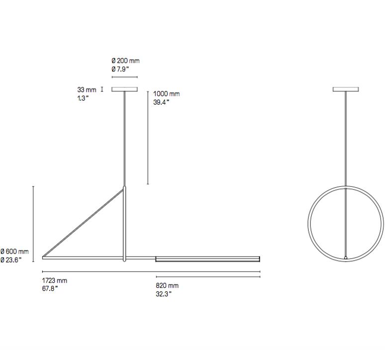 Cercle et trait  suspension pendant light  cvl cercle trait  design signed 53417 product