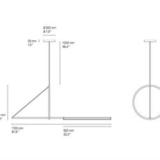 Cercle et trait  suspension pendant light  cvl cercle trait  design signed 53417 thumb