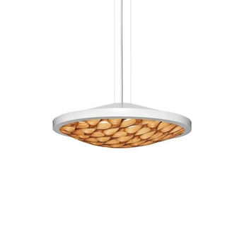 Suspension cervantes led dimmable bois cerisier blanc o70cm lzf normal