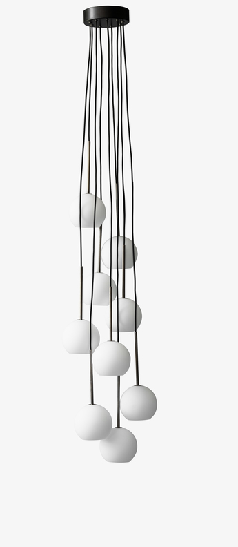 Suspension chandelier ice sr3 blanc opalin laiton bronze led o38cm h180cm andtradition normal