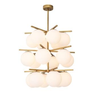 Suspension chandelier noa laiton o68cm h80cm eichholtz normal