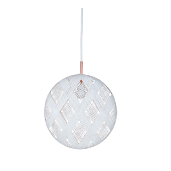 Suspension chanpen diamond l blanc o36cm h36cm forestier normal