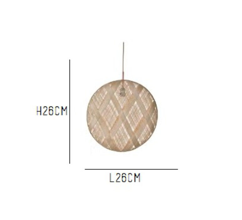Chanpen diamond natural o 26 cm anon pairot suspension pendant light  forestier 20205  design signed 30691 product