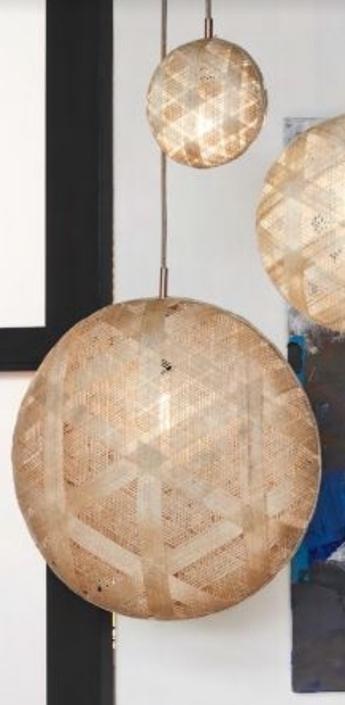 Suspension chanpen diamond natural o 52 cm beige h52cm forestier normal