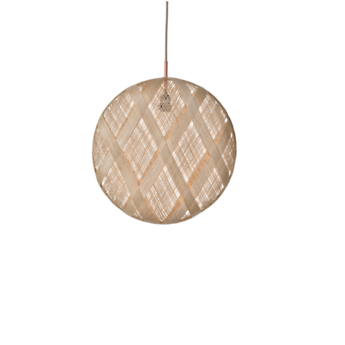 Suspension chanpen diamond natural o 52 cm beige h52cm forestier normal