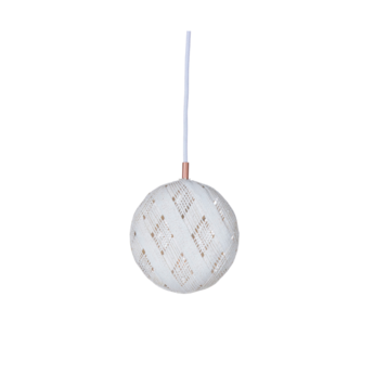 Suspension chanpen diamond s blanc o19cm h19cm forestier normal