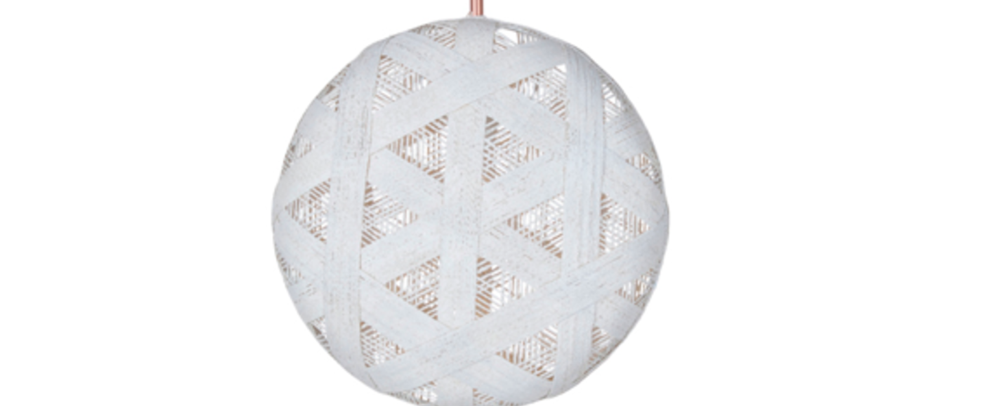 Suspension chanpen hexagonal l blanc o36cm h36cm forestier normal