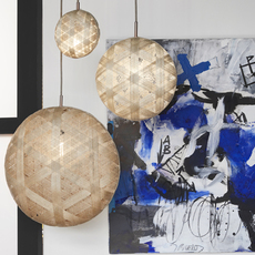 Chanpen hexagonal l  suspension pendant light  forestier 20260  design signed 53975 thumb