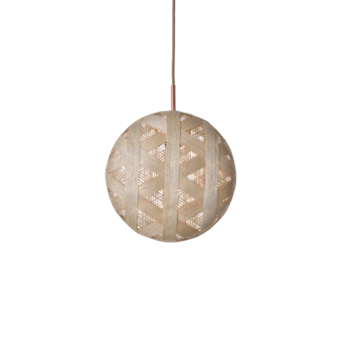 Suspension chanpen hexagonal l naturel o36cm h36cm forestier normal