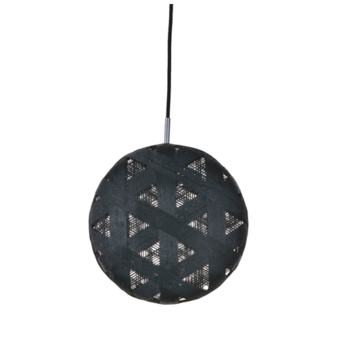 Suspension chanpen hexagonal l noir o36cm h36cm forestier normal