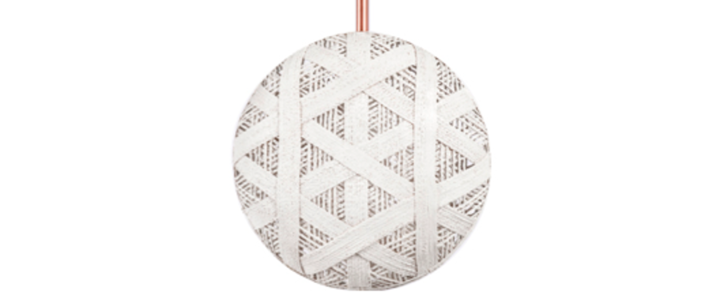 Suspension chanpen hexagonal m blanc o26cm h26cm forestier normal