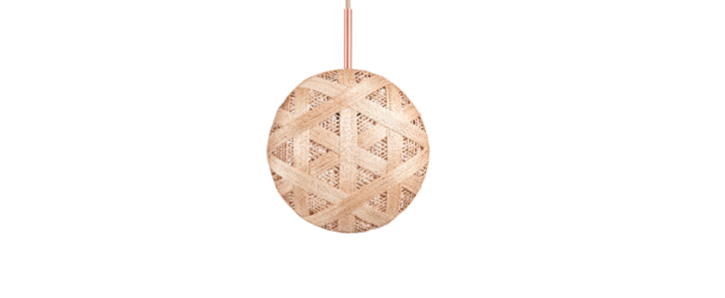 Suspension chanpen hexagonal m naturel o26cm h26cm forestier normal