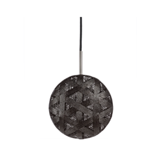 Suspension chanpen hexagonal m noir o26cm h26cm forestier normal