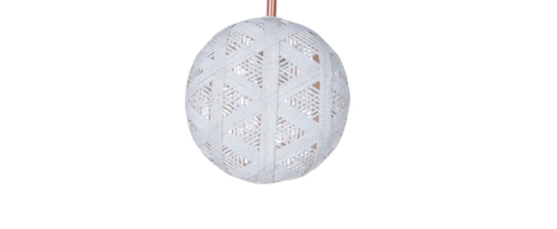 Suspension chanpen hexagonal s blanc o19cm h10cm forestier normal