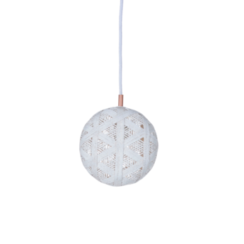 Suspension chanpen hexagonal s blanc o19cm h10cm forestier normal