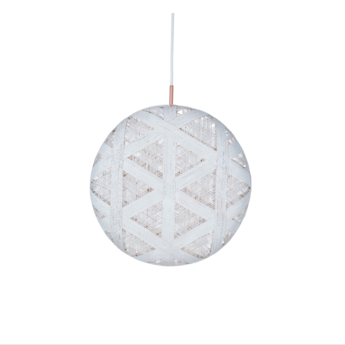 Suspension chanpen hexagonal xl blanc o52cm h52cm forestier normal