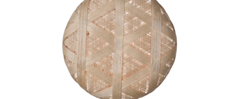 Suspension chanpen hexagonal xl naturel o52cm h52cm forestier normal