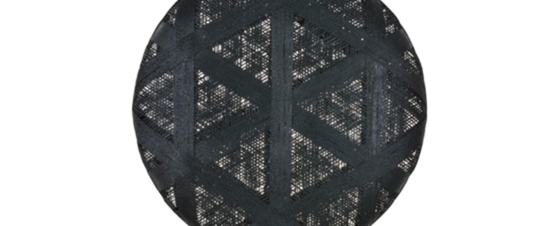 Suspension chanpen hexagonal xl noir o52cm h52cm forestier normal