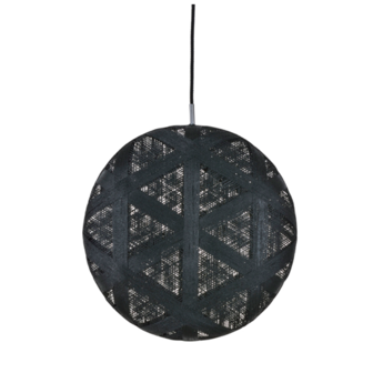 Suspension chanpen hexagonal xl noir o52cm h52cm forestier normal