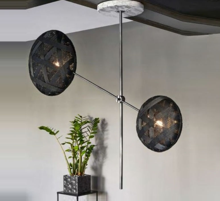 Chanpen metal 2 lights anon pairot suspension pendant light  forestier 20213  design signed 30741 product