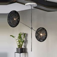 Chanpen metal 2 lights anon pairot suspension pendant light  forestier 20213  design signed 30741 thumb
