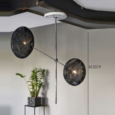 Chanpen metal 2 lights anon pairot suspension pendant light  forestier 20213  design signed 30742 thumb